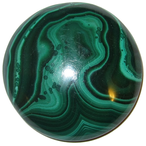 "Malachite Cabochon 1.5"" Specialty Round Green Mother Nature's Art S08"