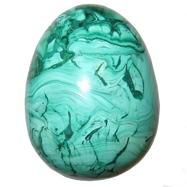 Malachite Egg 56 Bold Juicy Green Crystal Power Stone Healing Gem Reiki Master 3.3""