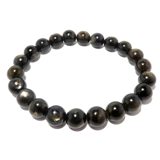 round mica beaded stretch bracelet