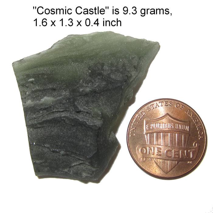Moldavite Meteorite Time Travel Deep Space Rock Green Stone Collectible C50 (Cosmic Castle)