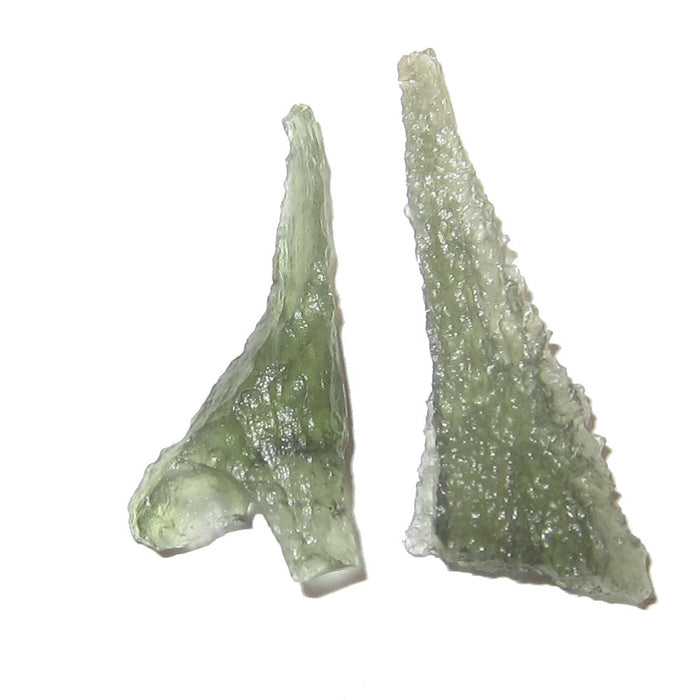 Moldavite Meteorite Pair of Bonded Giraffes Green Alien Space Stones