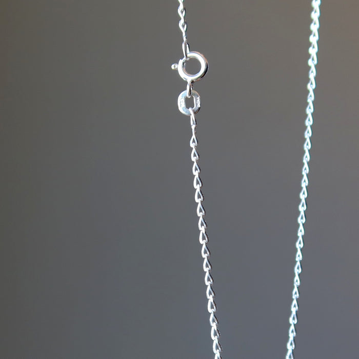 sterling silver chain and spring clasp