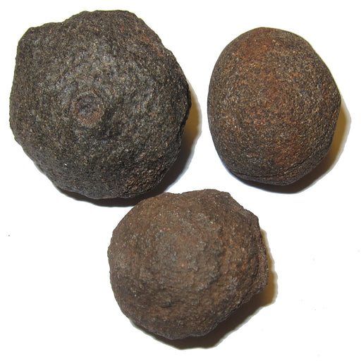 two male and one female moqui marble stones in varying sizes