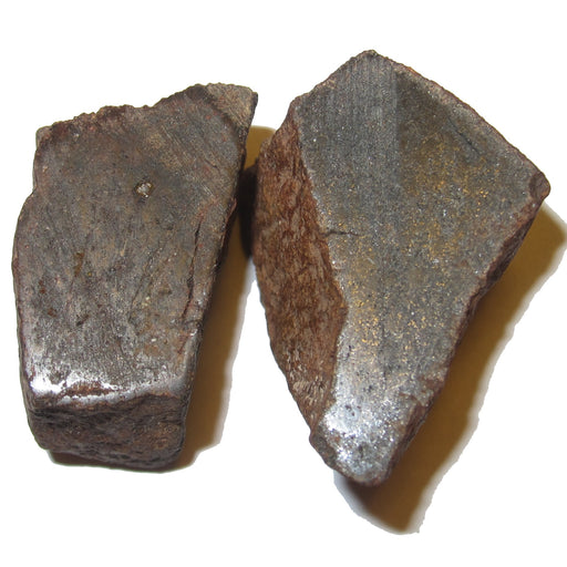 NWA Chondrite Meteorite Alien Space Rock Stone Brown Collectible C50 (Polished Top Pair, 1.4 Inch)