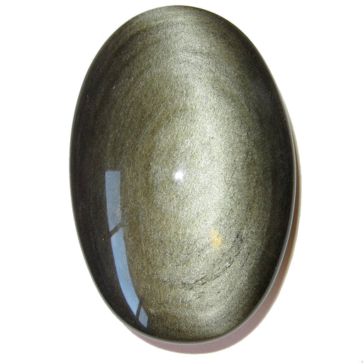 "Obsidian Polished Stone Gold 4.5"" Collectible XL Eye of God Omnipotent Watcher Crystal Oval Meditation Gem C58"