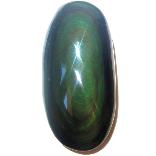 Obsidian Rainbow Polished Stone Premium Quality Oblong Oval Upper Chakras P02