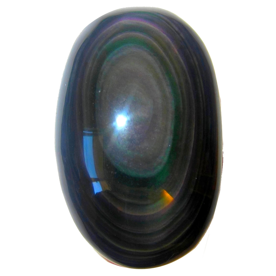 Obsidian Rainbow Polished Stone Premium Quality Soap Oval Upper Chakras P03