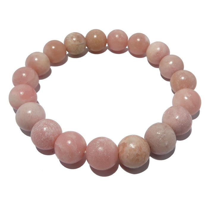 Pink Opal Bracelet Heart of Maya Peruvian Love and Wisdom Stone