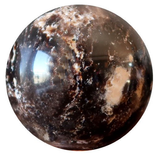 light and dark brown opal sphere