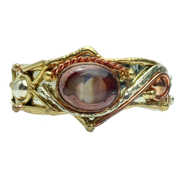 "Opal Bracelet 5.5-6.5"" Boutique Oval Fire Red Gemstone Cuff B01"