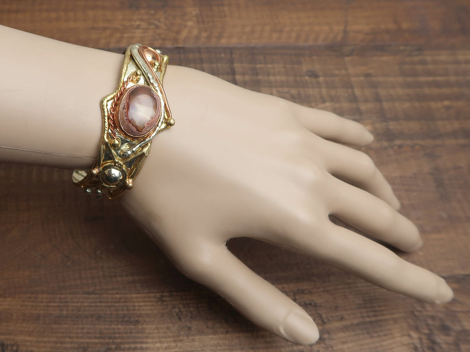 Red Fire Opal Bracelet Queen of Passion and Fashion Cuff Crystal