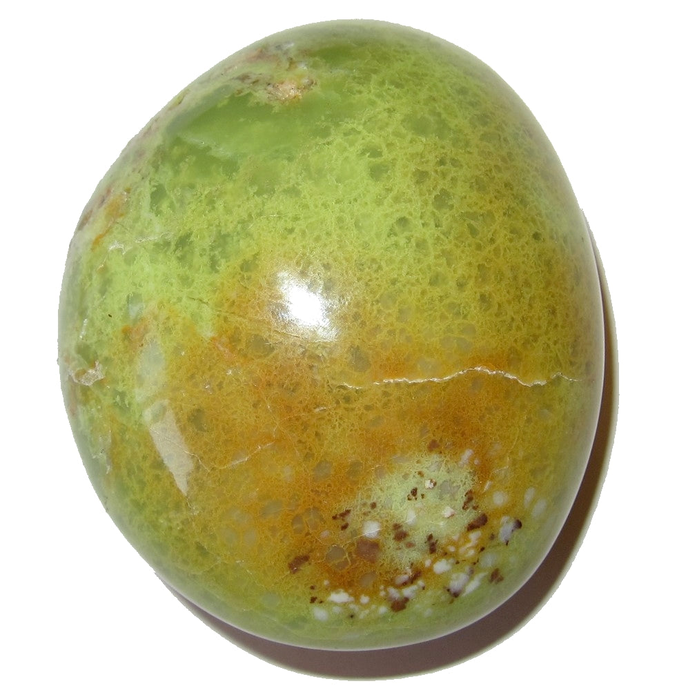 "Opal Polished Stone 2.3"" Collectible Healing Palm Meditation Rock Spring Green C02"