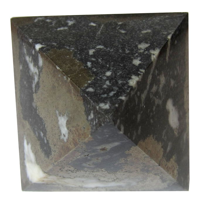 Pyrite Polygon Metallic Crystal 3-D Diamond Healing Energy Protective Stone 2.7""