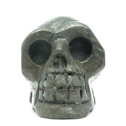 "Pyrite Skull 1.5"" Metallic Gold Stone Protection Crystal Healing Figurine"