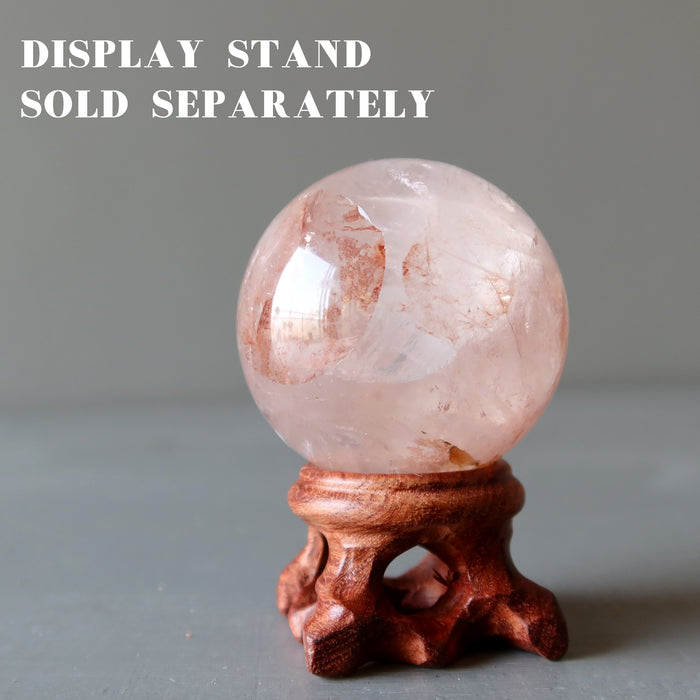 Red Quartz Sphere Fire and Ice Rush of Energy Hematoid Crystal Ball