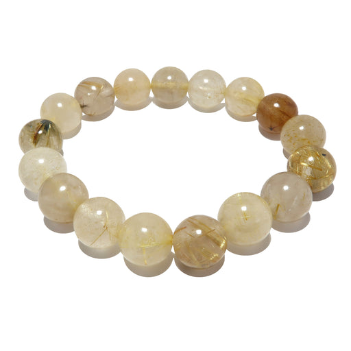 golden angel hair rutilated quartz stretch bracelet