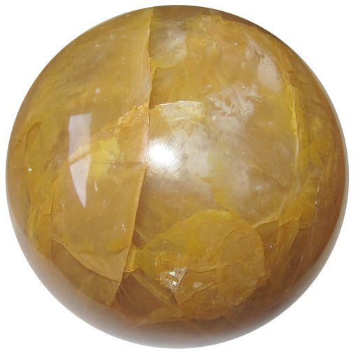 golden yellow quartz sphere