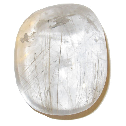 "Quartz Polished Stone Rutilated 1.6"" Collectible Nice Clear Gold Spindle Master Healing Crystal C52"