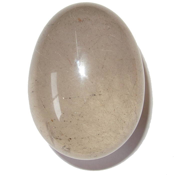 "Quartz Rutilated Egg 2.3"" Collectible Fine Needle Inclusions Stone Clear Golden C03"