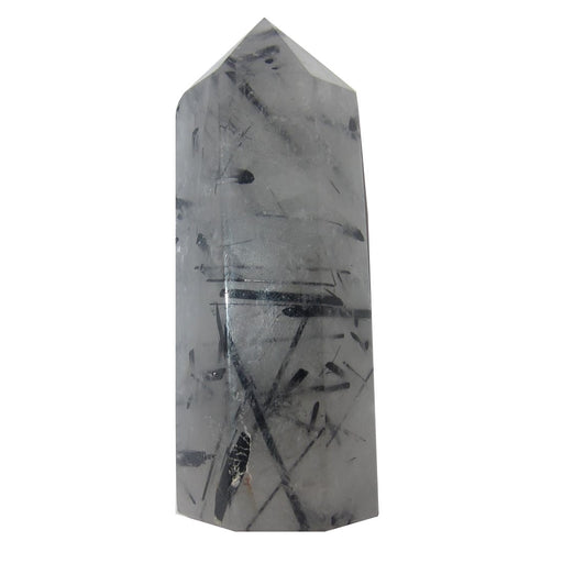 "Quartz Tourmaline Wand Tower Collectible Black Gemstones P01 (3.0"" Smoky Clear)"