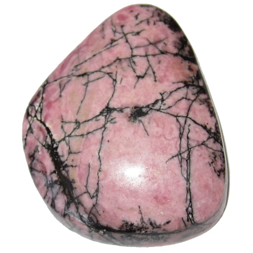 "Rhodonite Cabochon Collectible Pink Black Landscape Crystal American Mineral C50 (1.7"" Nebula)"
