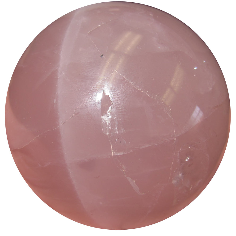Rose Quartz Star madagascar sphere is stunning, with a wounded warrior dip in the surface