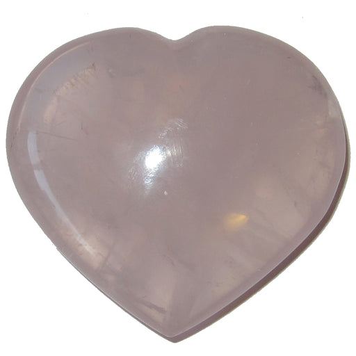 "Rose Quartz Heart Clear Pink Love Crystal Best Power Romance Stone P04 (2.5"")"