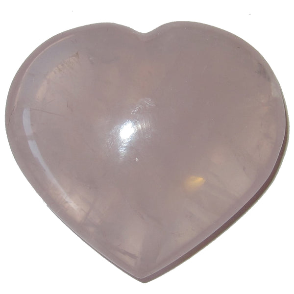 "Rose Quartz Heart 2.5"" Premium Clear Pink Top Grade Madagascar Stone P04"