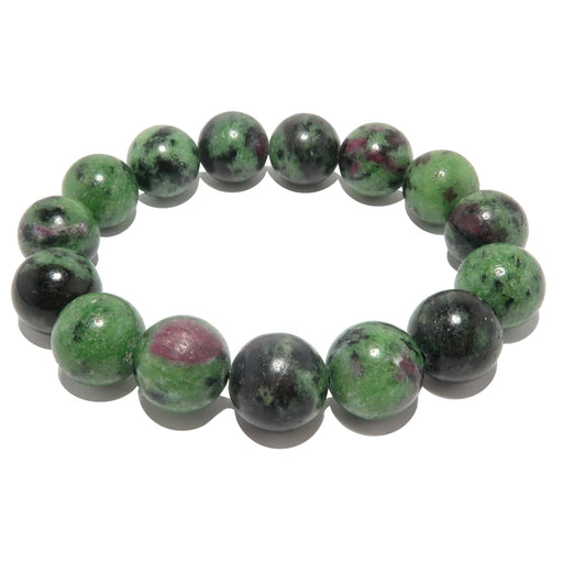 ruby zoisite round stretch bracelet