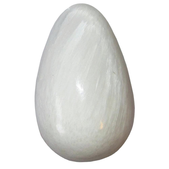 Scolecite Egg Guardian Angel Energy Stone White Silk Healing Crystal