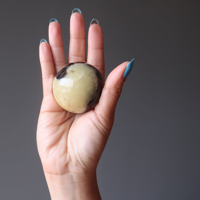 Septarian Sphere Crystal Healing Ball Dragon Stone Fierce Power Orb