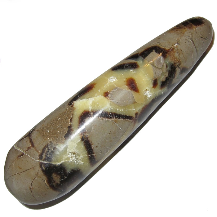Septarian Wand Massage Collectible Yellow Brown Rounded Rock (Yellow Cave, 5.5 Inches)