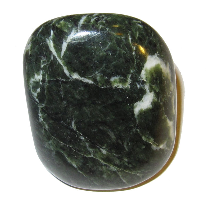 dark green and white serpentine polished stone