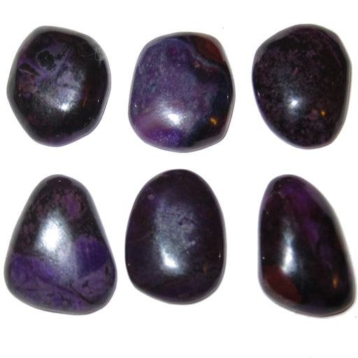 Sugilite Cabochon 15-19mm Boutique Set of 6 Purple Precious Gemstones B01