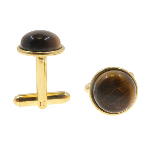 Gold Tigers Eye Cufflinks - Brown Mens Accessories