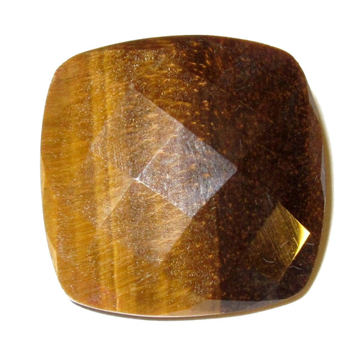 faceted tigers eye diamond cut cabochon