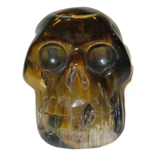 Tigers Eye Skull 06 Big Brown Beauty Cluster Style Stone Classic Collectible Healing Statue 2.8