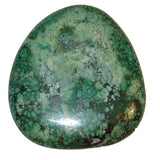 "Turquoise Polished Stone 01 Huge Green Crystal Cabachon Heart Chakra Stone Turkey 2.4"" (Gift Box)"