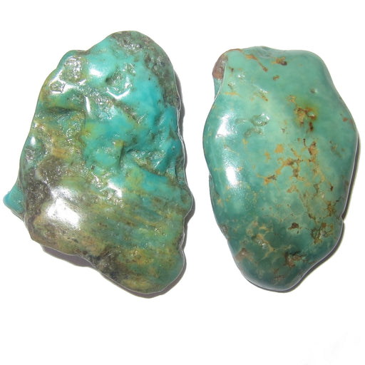 Turquoise Polished Stone Premium Pair of Crystals Genuine Old Kingman Mine Arizona P10