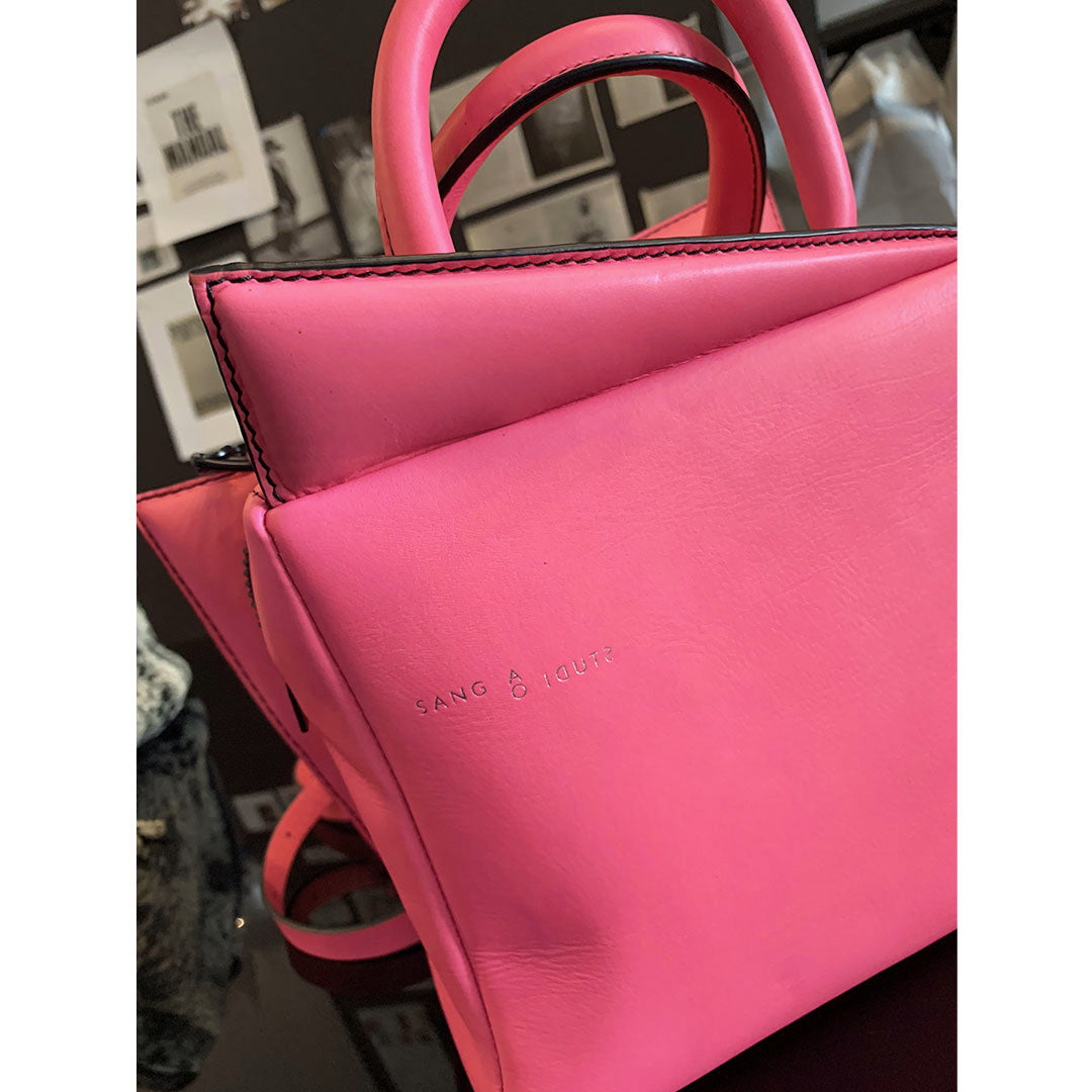 SALE →Bolt Mini← Cyber Pink Leather
