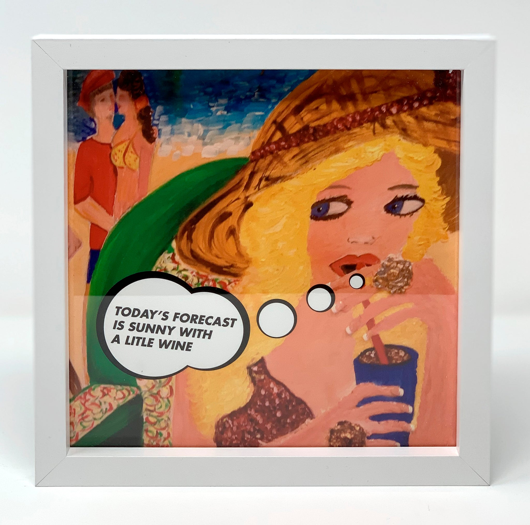 #SERIOUSLYAT Todays Forecast; Art Print Frame