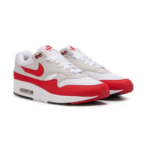 Nike Air Max 1 Anniversary White & University Red - leaders1354