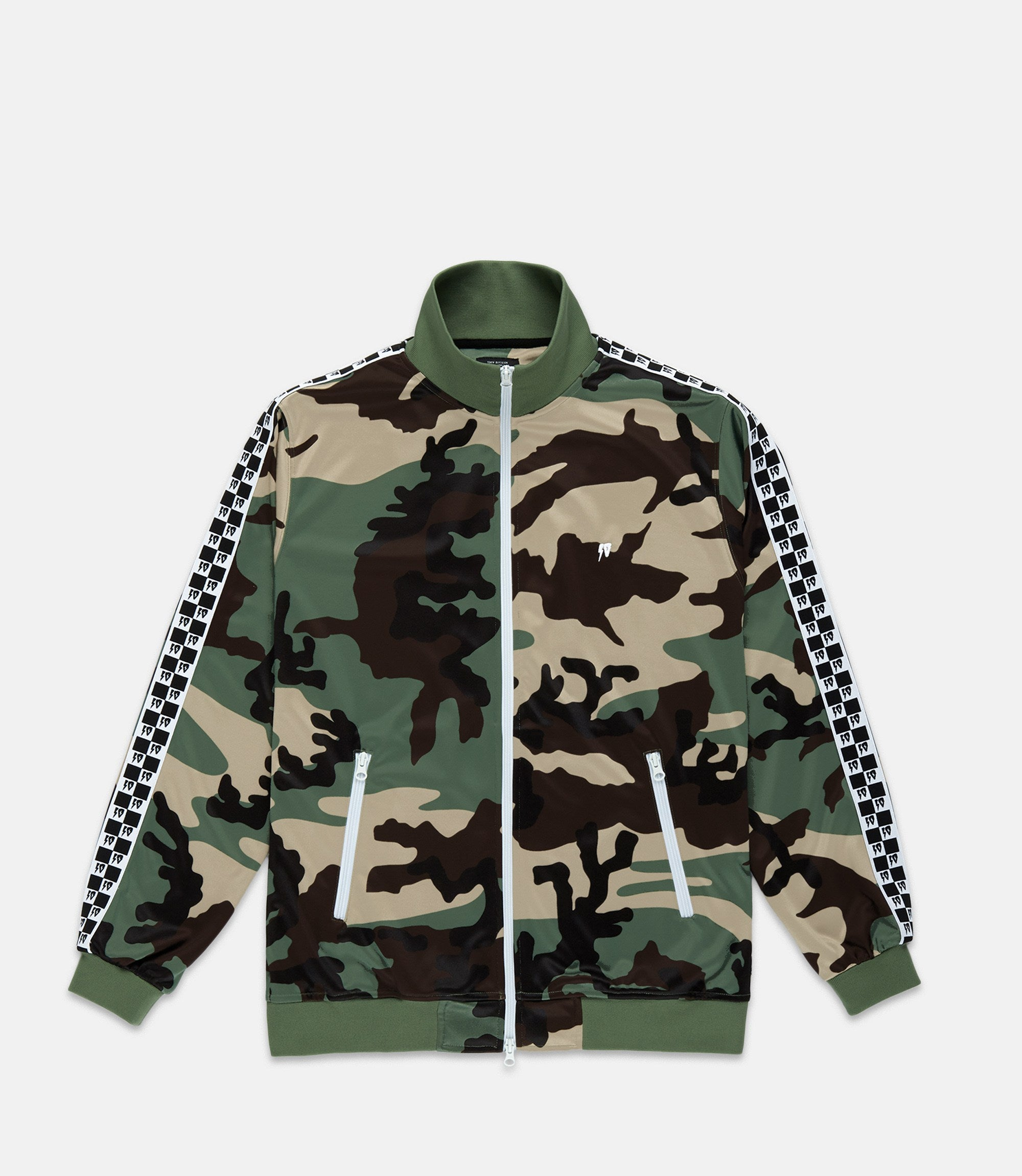 10 Deep Checkered Flag Track Jacket - leaders1354