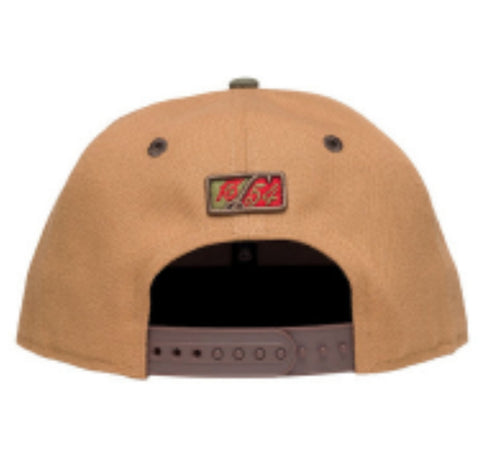 OG Khaki/Olive/Red Snapback - leaders1354