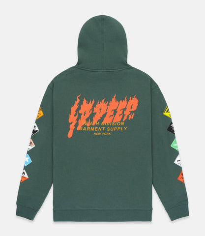 Prohibited Hoodie Forest Green
