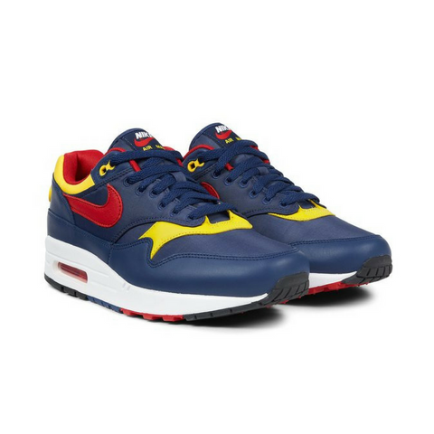 Nike Air Max 1 Premium Navy & Gym Red - leaders1354