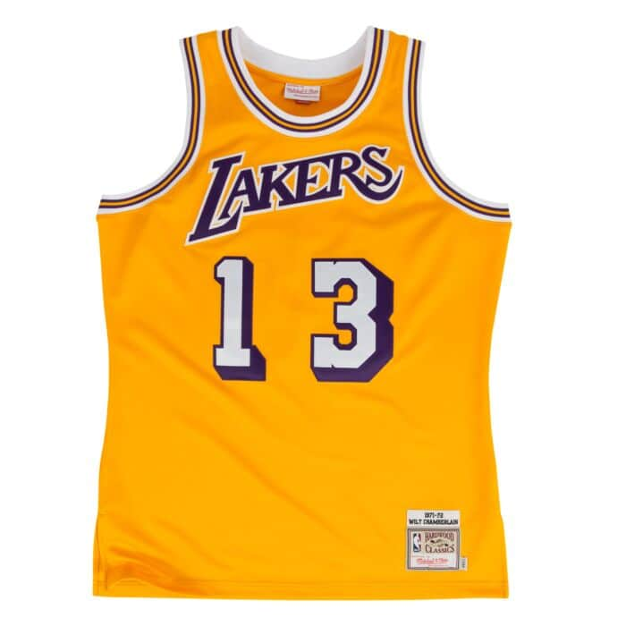 Wilt Chamberlain 1971-72 Lakers Authentic Jersey