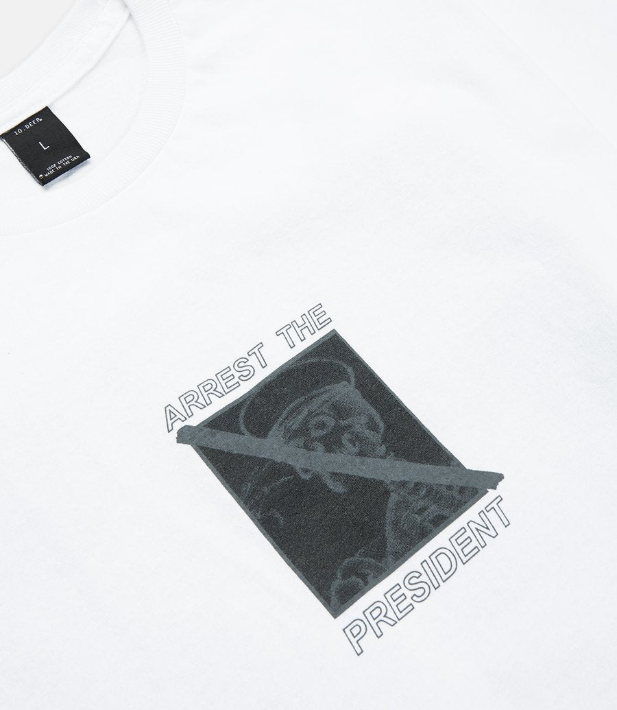 Arrest The President Tee White/Black