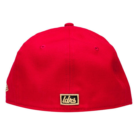 Leaders Pretzel 'L' Red Fitted Hat - leaders1354