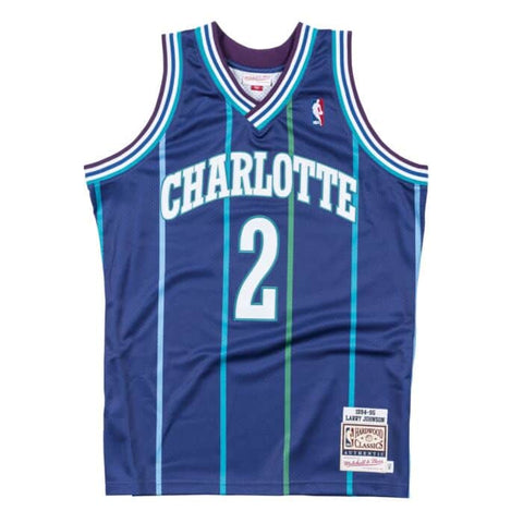 Larry Johnson 1994-95 Hornets Authentic Jersey